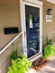 Front door with 874 West Address