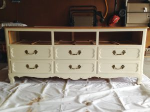 Dresser without top drawer